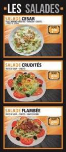 Menu La Flambée - Les salades