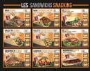 Menu La Flambée - Les sandwiches
