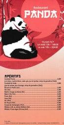 Menu Au Panda - Les apéritifs