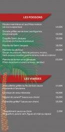 Menu La Pitchouline - Viandes et poissons