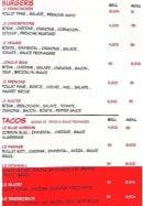 Menu Frenchie - Burgers et tacos