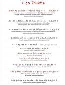 Menu Au Péché Mignon - Les plats