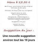 Menu Au Péché Mignon - Le menu à 27€50