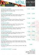 Menu KAU'WAHI by Pokaloha - menus suite