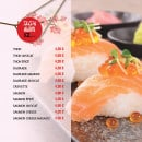Menu L&B Sushi - Les sushis nigiri