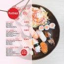 Menu L&B Sushi - Les plateaux suite