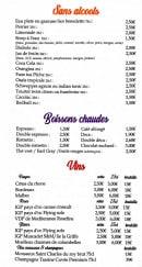 Menu H&D Bar - Sans alcools, boissons chaudes et vins