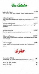 Menu H&D Bar - Salades et grill