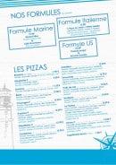Menu La Pizzeria du lac - pizzas et formules