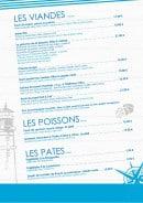 Menu La Pizzeria du lac - Les viandes,...