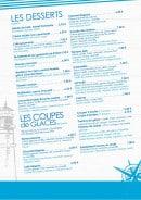 Menu La Pizzeria du lac - Les desserts,...
