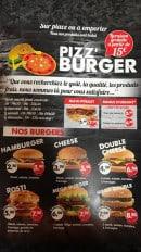 Menu Pizz'burger - Carte et menu Pizz'burger Belfort