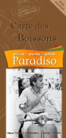 Menu Paradiso - Carte des boissons