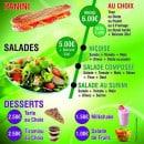 Menu Food street - Panini, salades, desserts