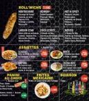 Menu Food street - Roll, boissons, frites,.
