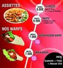 Menu Food street - Assiettes et wraps