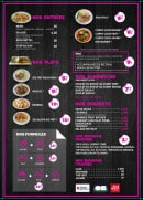 Menu Be One thai - Les entrées, plats...