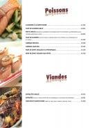 Menu Casa Mia - Les poissons et viandes