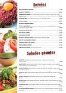 Menu Casa Mia - Les entrées et salades