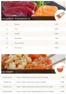 Menu Allo-sushi - Les sashimis et chirashis