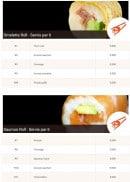 Menu Allo-sushi - Les omelettes rolls et saumons rolls