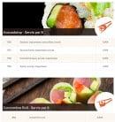 Menu Allo-sushi - Les avocadotops et le concombre roll