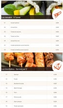Menu Allo-sushi - Les temakis et brochettes