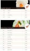 Menu Allo-sushi - Les neiges rolls et makis printemps