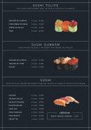 Menu Asian Factory - Les sushis