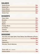 Menu Hector Chicken - Les salades, les desserts et boissons