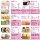 Menu Paradise Sushi - A la carte