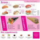 Menu Paradise Sushi - Entrées