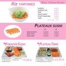 Menu Paradise Sushi - Plateaux sushi