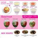 Menu Paradise Sushi - Tartare salades et soupes