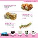 Menu Paradise Sushi - Les rolls