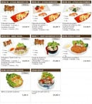 Menu Sushi wako - Les menus culinaires