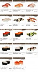 Menu Sushi wako - Les sushis