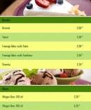 Menu Time Pizza - Les desserts et glaces