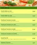 Menu Time Pizza - Les formules midi et soir