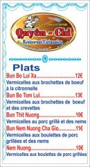Menu Chez Quyên-Chi - Plats page 4