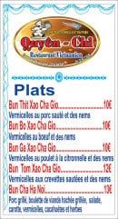 Menu Chez Quyên-Chi - Plats page 3