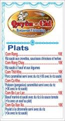 Menu Chez Quyên-Chi - Plats