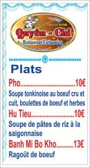 Menu Chez Quyên-Chi - Plats page 2