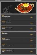 Menu Lassani - Plats végétariens