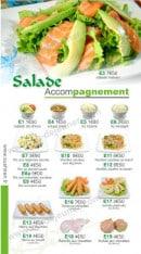 Menu Sushi Ren - Les Salades