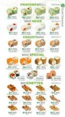 Menu Sushi Ren - A la Carte suite