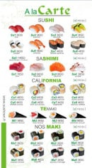 Menu Sushi Ren - A la Carte