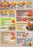 Menu Palais De Bondy - Tex mex, salades, paninis,...