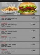 Menu Pasta Nova - Les burgers