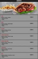 Menu Pasta Nova - Les sandwiches